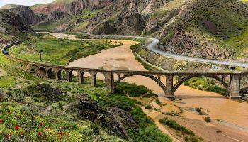 پل راه آهن قافلانکوه میانه