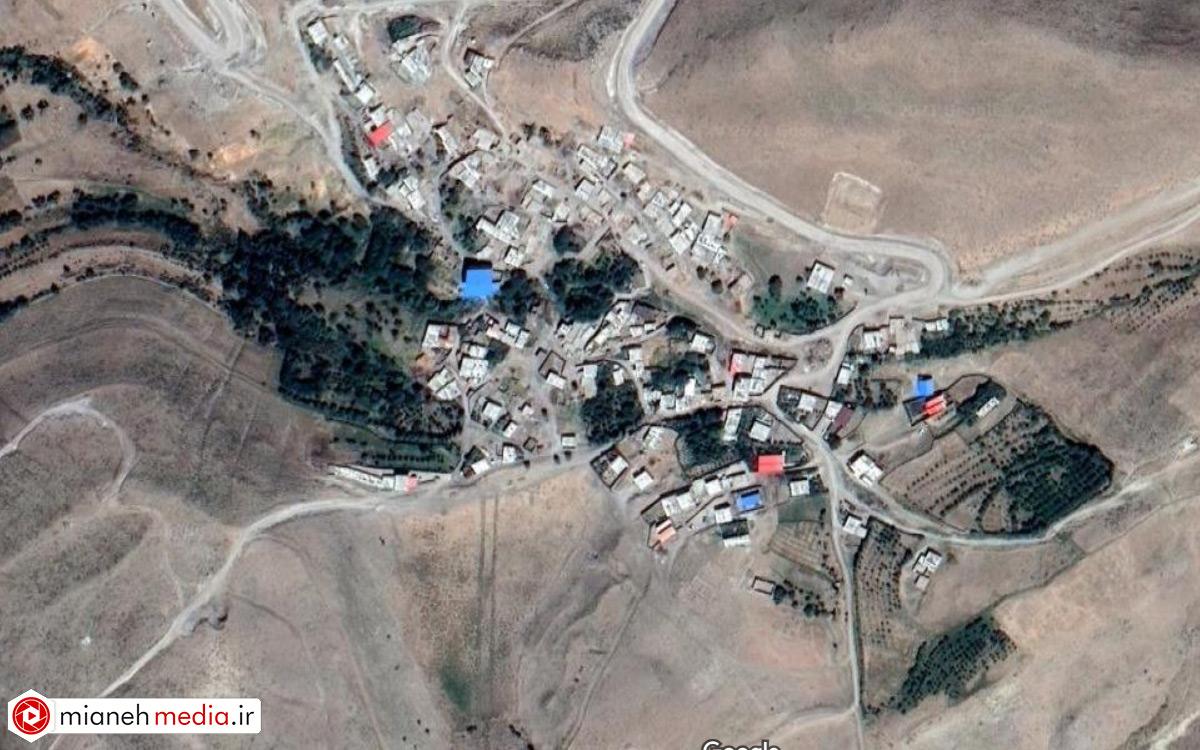 نقشه روستای حصار میدان داغی