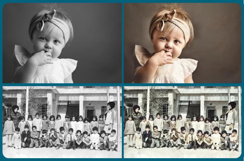 رنگی کردن عکس - آنلاین