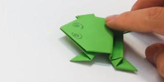 قورباغه کاغذی به روش اوریگامی بسازید / آموزش ویدیویی