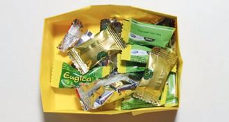 جعبه شکلات کاغذی