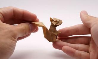 کاردستی سنجاب با کاغذ