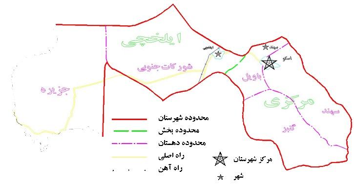 نقشه اسکو