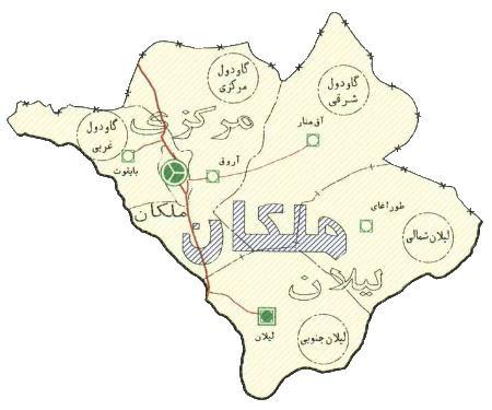 نقشه ملکان
