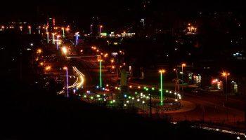 عکس ورودی شهر میانه از سمت میدان ولایت