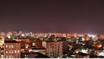 نمایی از شهر میانه در شب شهریور ۹۶