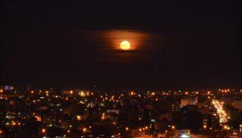 شهر میانه در ماه شب ۱۴ ام / فروردین ۹۳