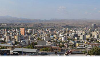منظره ی شهری میانه از سمت دانشگاه آزاد اسلامی / آبان ۹۳
