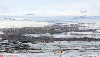 نمای زمستانی شهر میانه / دی ۹۷