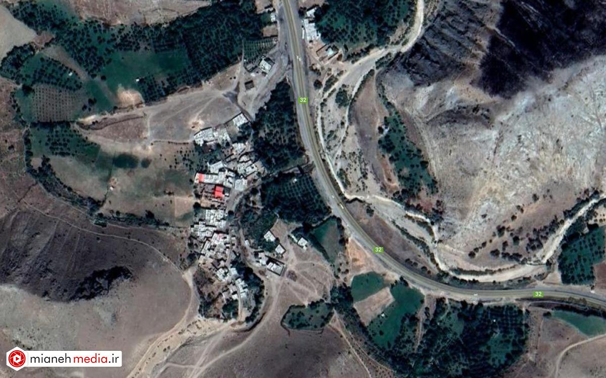 نقشه روستای کوهسالار سفلی