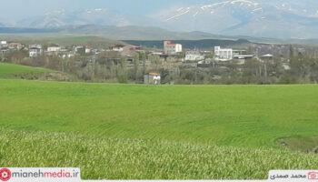دورنمای رشته کوه بوزقوش از زاویه روستای ایشلق 14 اردیبهشت سال ۱۴۰۰