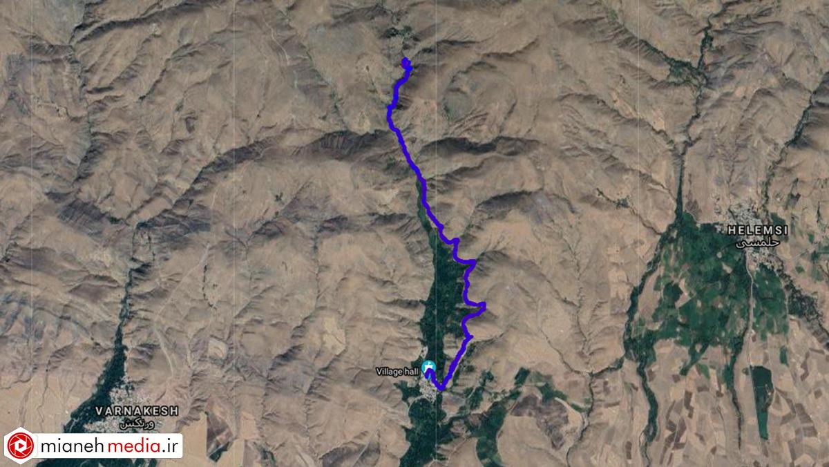 مسیر آبشار بلوکان