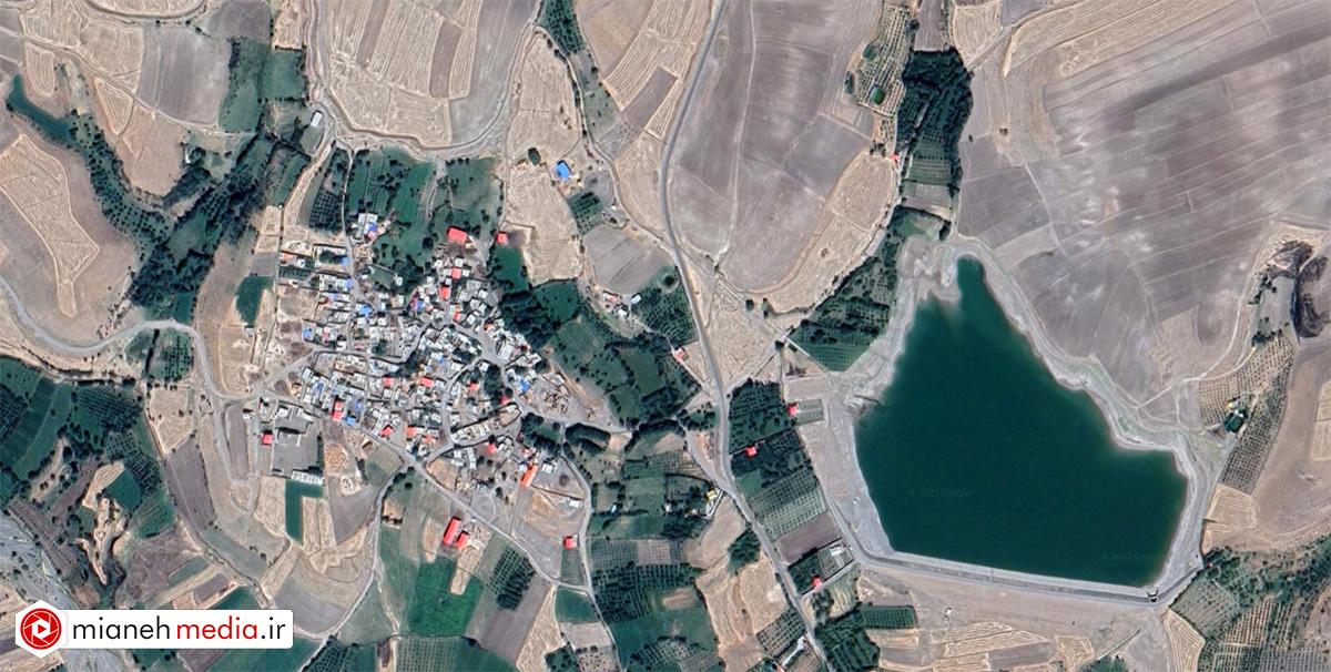 نقشه روستای کزرج