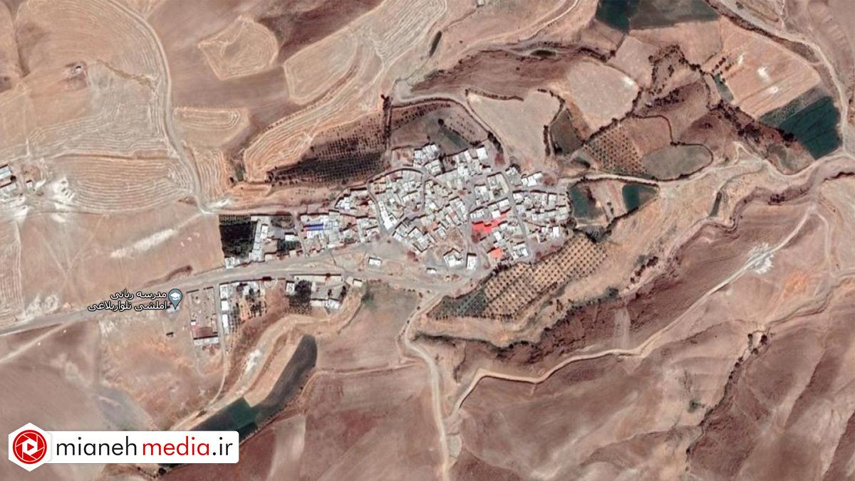 نقشه روستای تلوار بلاغی