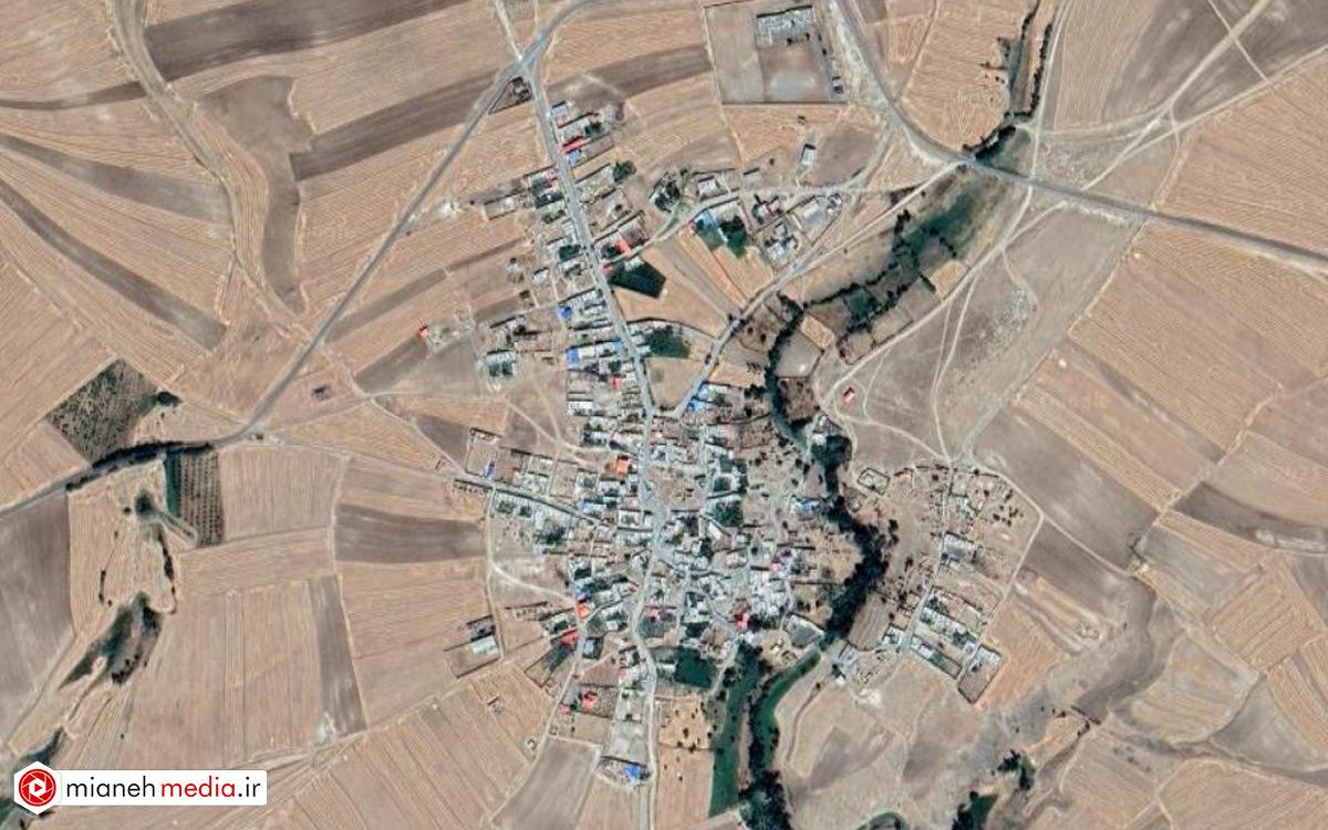 نقشه روستای خاتون آباد میانه