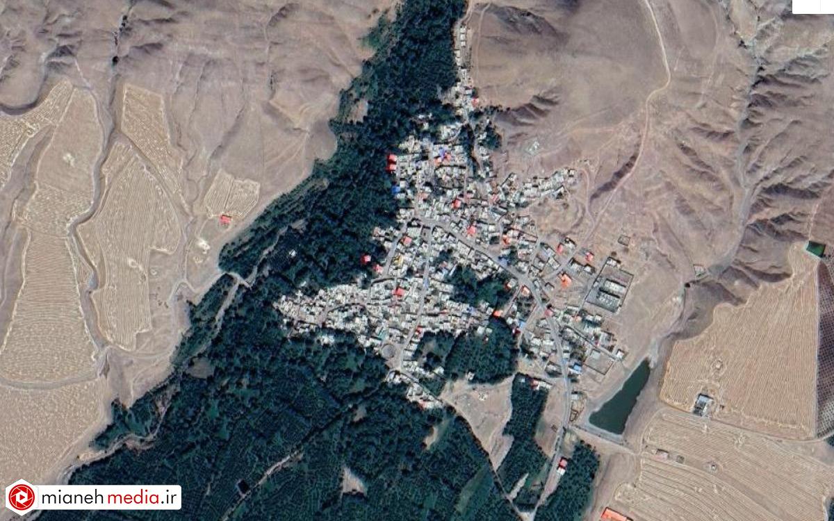 نقشه روستای ورنکش