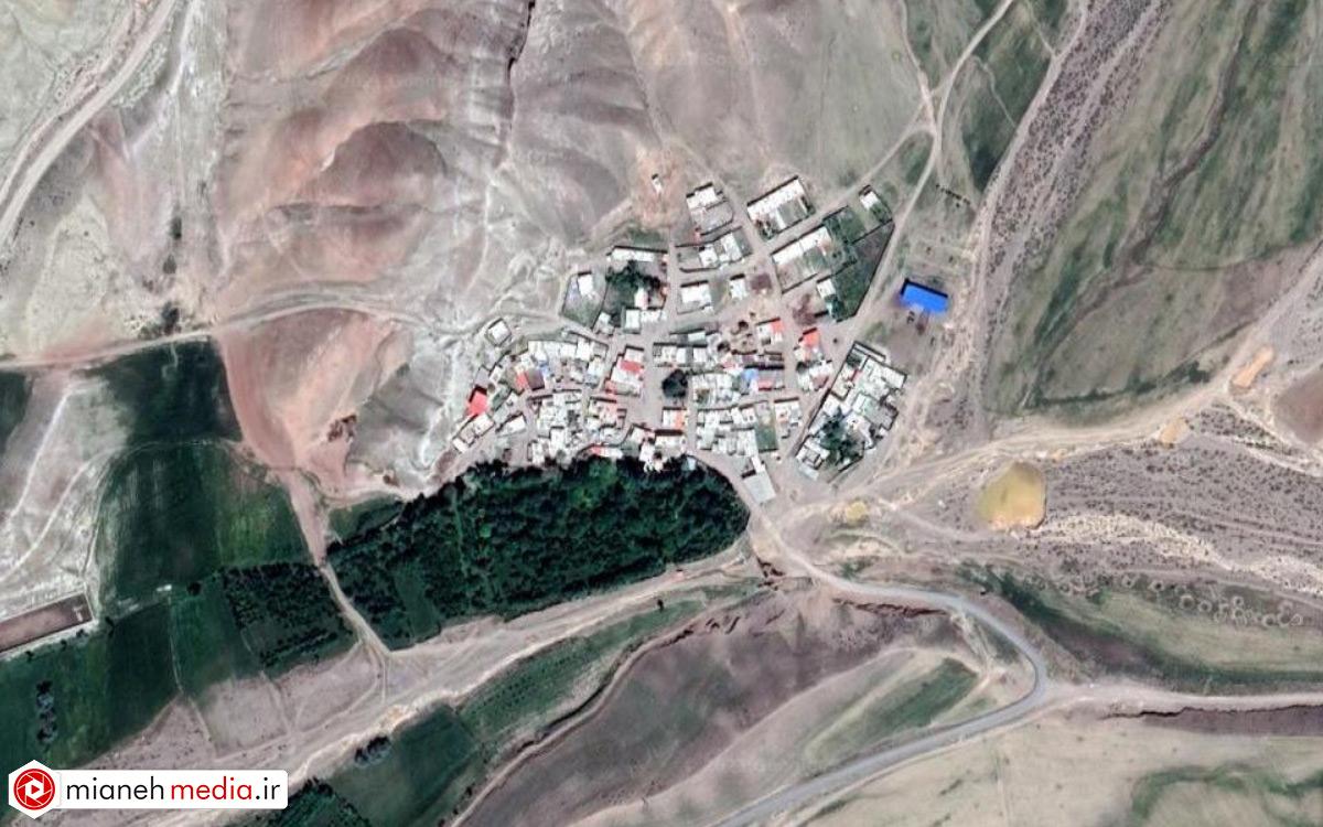 نقشه روستای افشار میانه