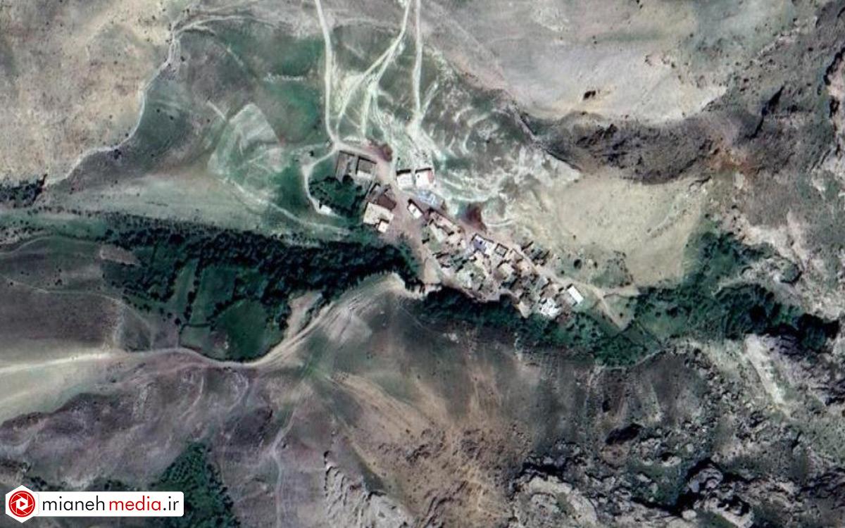 نقشه روستای کوهستانق (کوستانا)